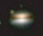 Near-infrared image of the flying saucer disk (2MASSI1628137-243139)